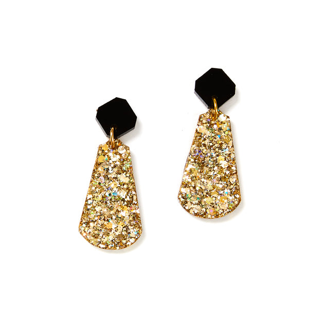 Tal Earrings - Black / Gold