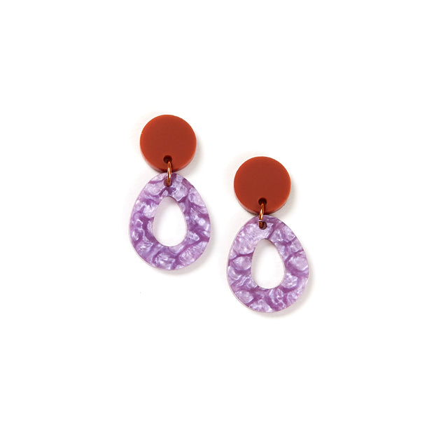 Tempest Earrings - Clay / Lilac