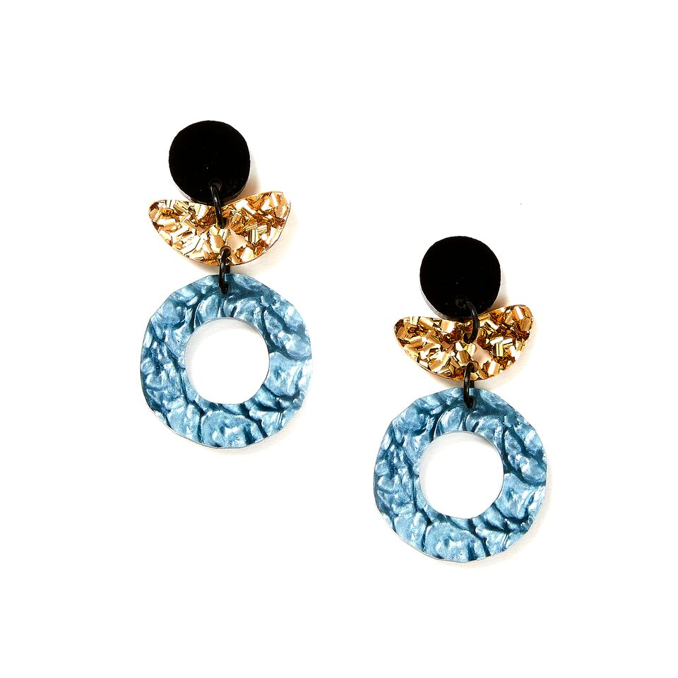 Dune Flower Earrings - Storm