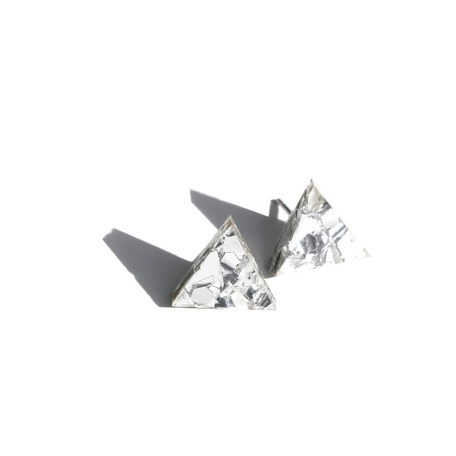 Mini Triangle Studs - Silver