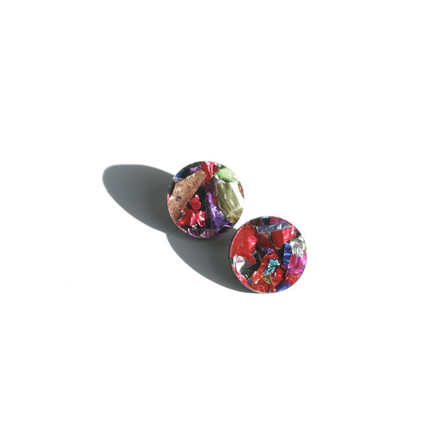 Mini Circle Studs - Confetti