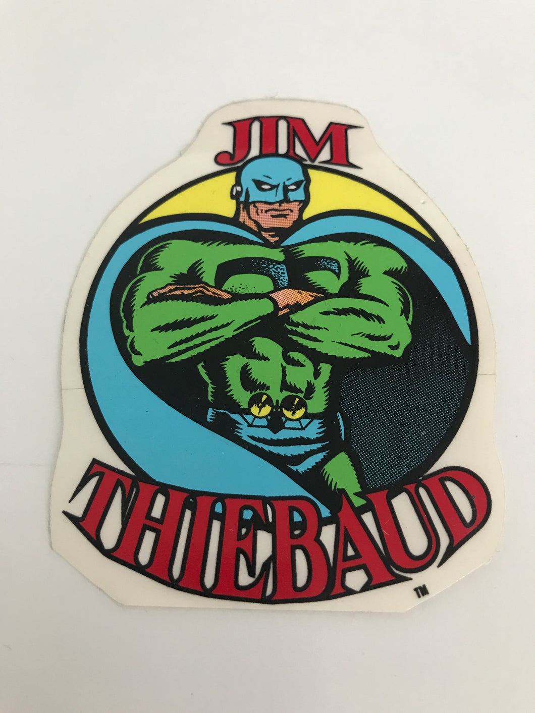 Vintage skateboard SMA Jim Thiebaud sticker