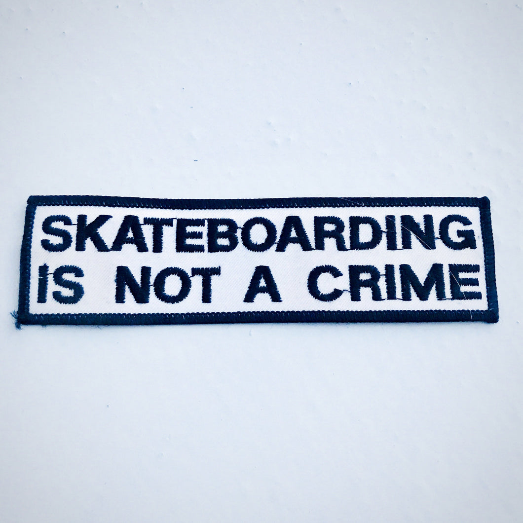 Vintage Skateboarding is Not a Crime patch - orig. 80s