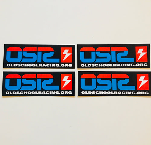 OSR Blue Red Racing Logo sticker pack