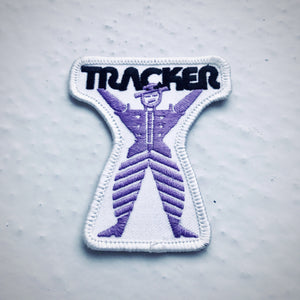 Vintage Tracker Trucks skateboarding patch 80s