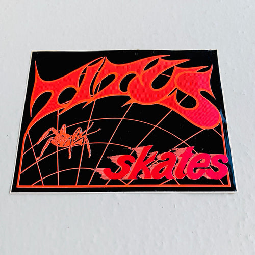 Vintage Titus Skates 80s black neon large sticker