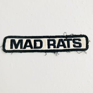 Vintage Mad Rats skateboarding patch 80s