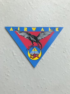Vintage skateboard Airwalk sticker Triangle