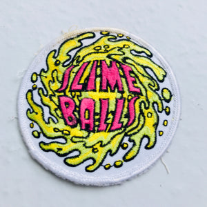 Vintage Santa Cruz Slime Balls Wheels skateboarding patch 80s