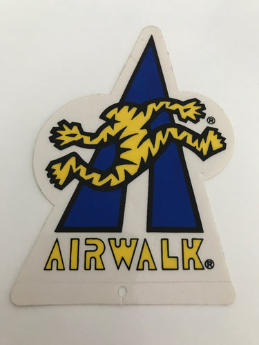 Vintage skateboard Airwalk sticker
