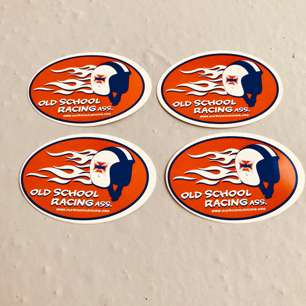 OSR flaming helmet sticker pack
