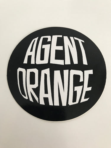 Vintage skateboard Agent Orange sticker