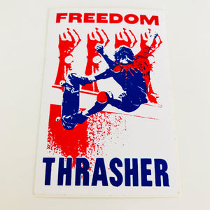 Vintage skateboard Thrasher Magazine Freedom sticker