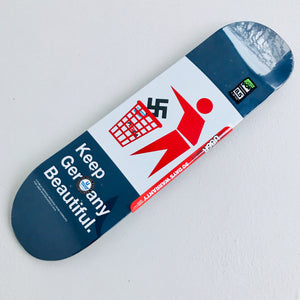 "Skateboard Deck popsickle shape ""keep Germany beautiful"" 8.5"