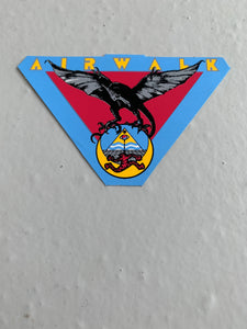 Vintage skateboard Airwalk sticker Triangle small