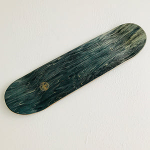 "Skateboard Deck popsickle shape ""black wood"" 8.5"
