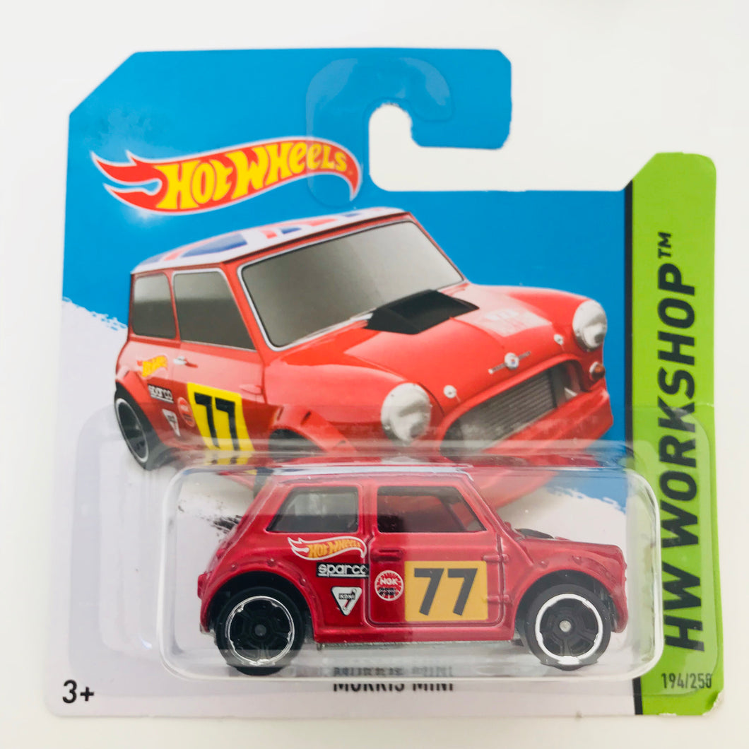 Hot Wheels 2014 Morris Mini Racing Red
