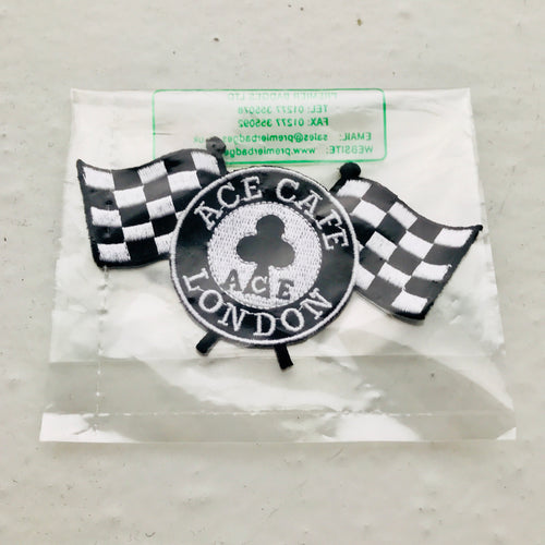 Classic Ace Café London Checkered Flags Logo patch