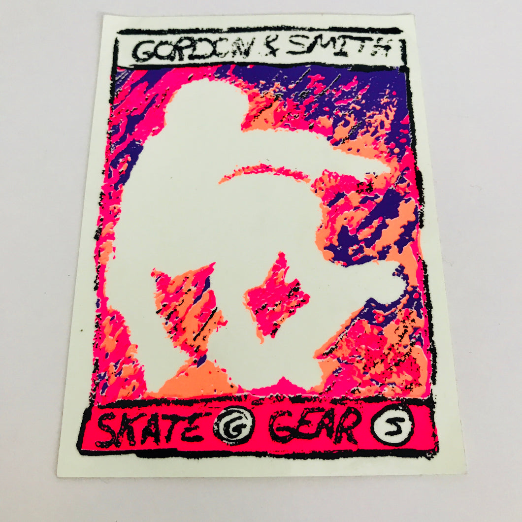 Vintage skateboard Gordon & Smith G&S Skate Gear sticker