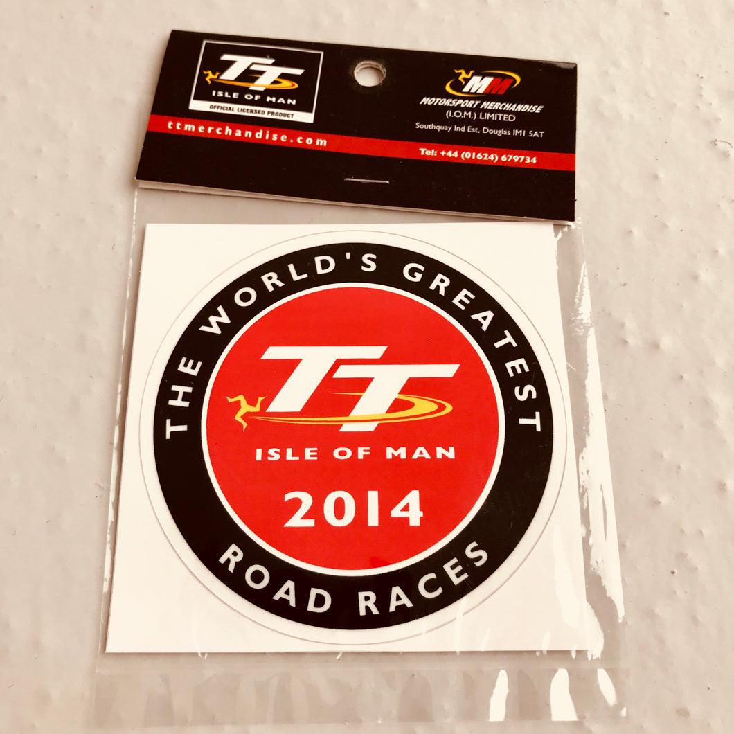 Classic TT Isle of Man Logo Sticker