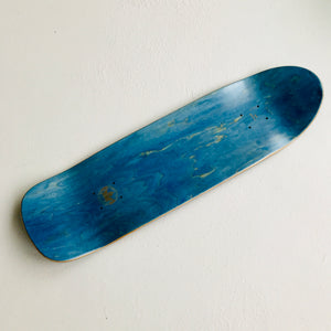 "Skateboard Deck Pool bomb shape ""blue bomber"" 9.0"