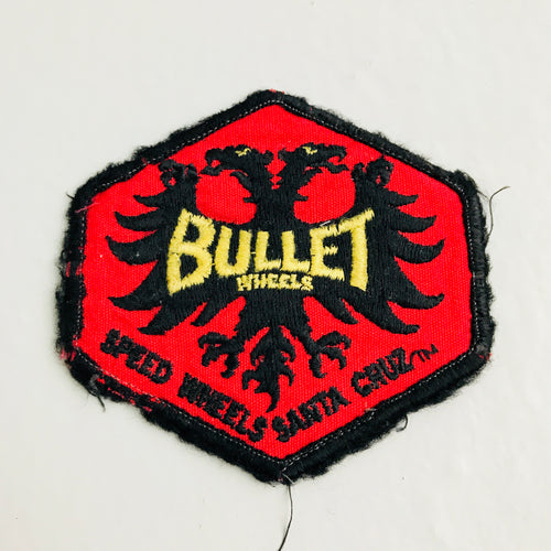Vintage Santa Cruz Bullet Wheels skateboarding patch 80s