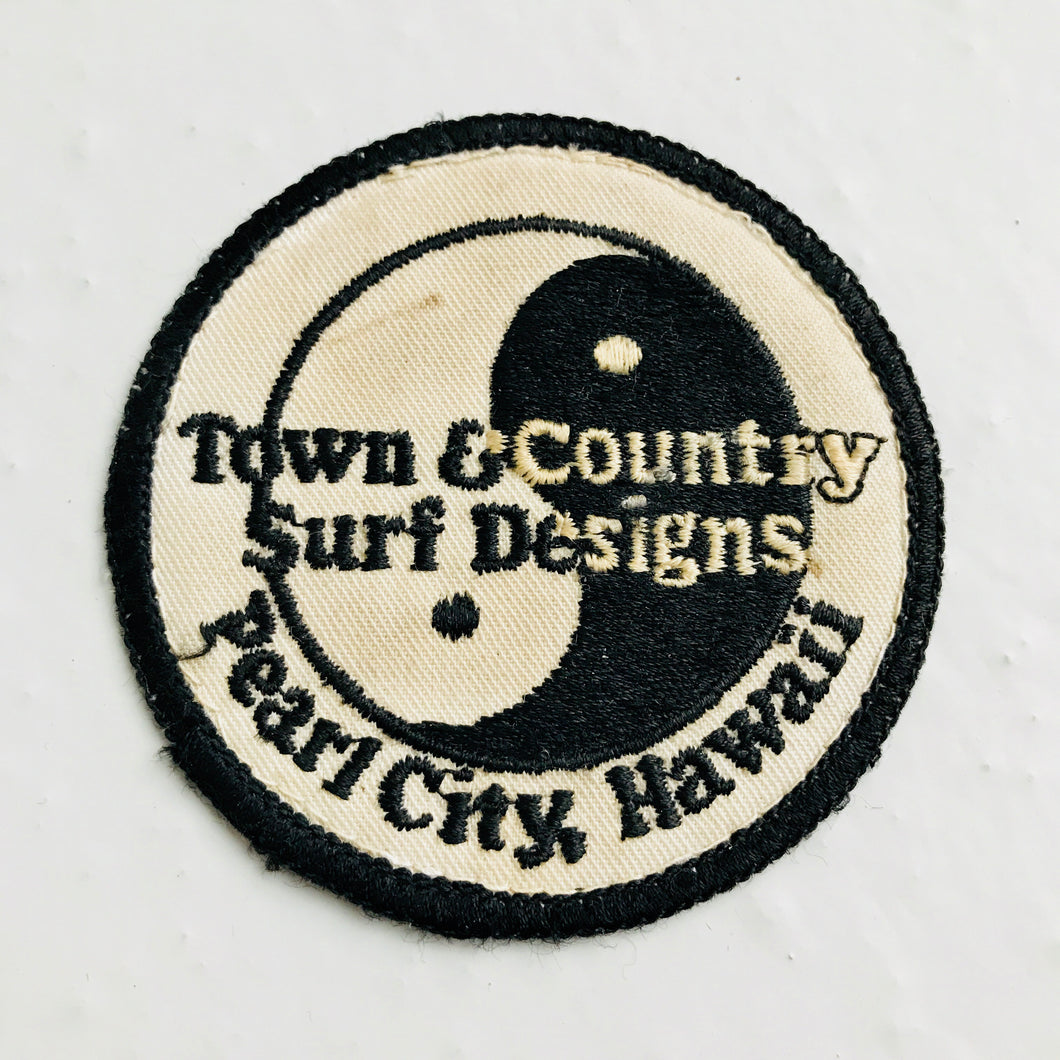 Vintage Town & Country Surf & skateboarding patch 80s