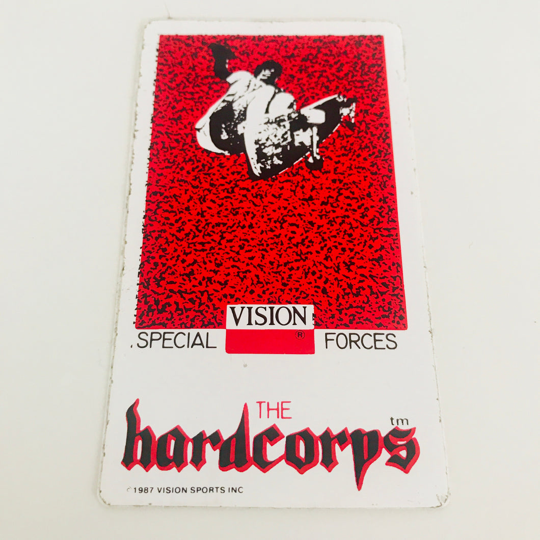 Vintage skateboard Vision The Hardcorps sticker