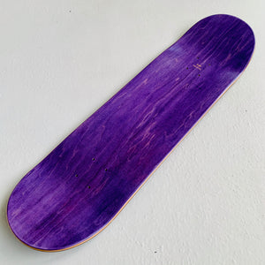"Skateboard Deck popsicle shape ""purple wood"" 8.68"