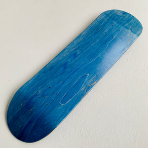 "Skateboard Blank Deck popsicle shape ""blue wood"" 8.75"