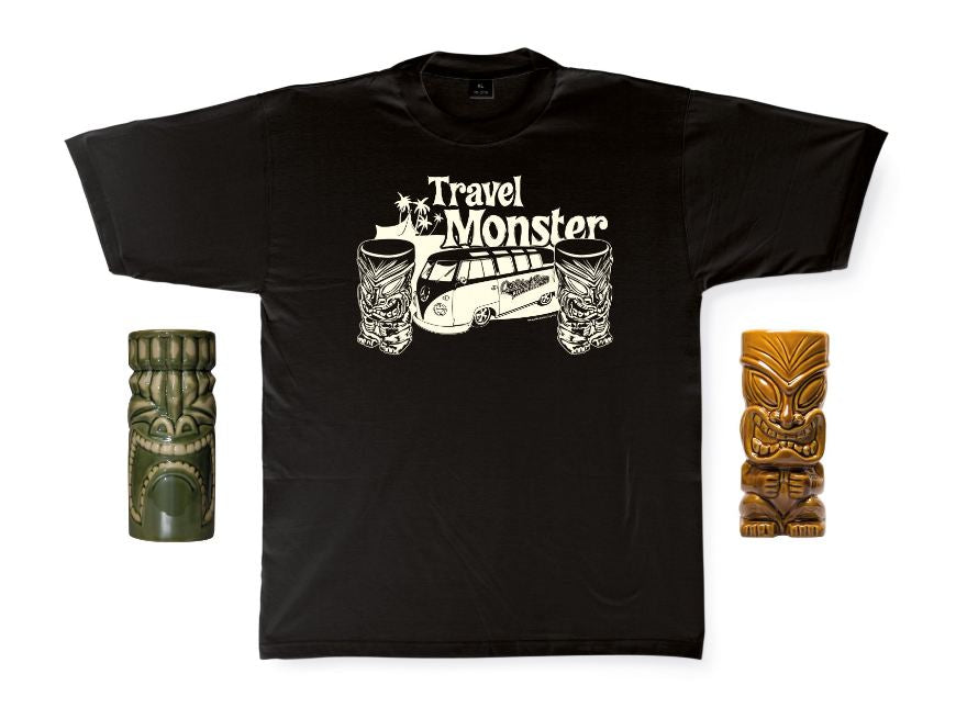 Travel Monster Tiki T1 Bus T-Shirt