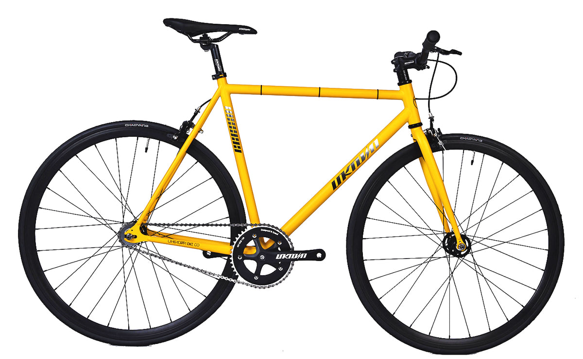 UNKNOWN SC-1 YELLOW 4130 CROMO FIXIE | COMPLETE BICYCLE – Unknown ...