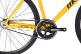 Unknown Bikes Fixed Gear PS1 Single Speed Yellow Crankset