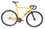 Unknown Bikes Fixed Gear PS1 Single Speed Yellow Dropbars