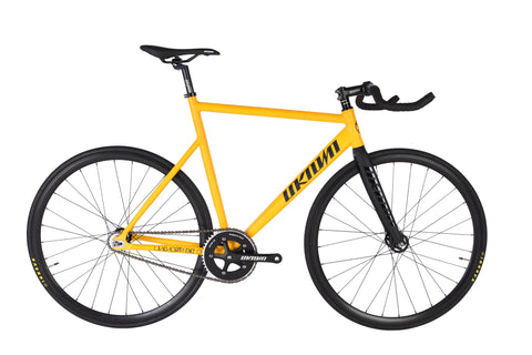 Unknown Bikes Fixed Gear PS1 Single Speed Yellow Complete Bicycle