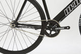 Unknown Bikes Fixed Gear Paradigm Fixie Track Bike Black Crankset