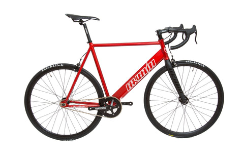 Unknown Bikes Fixed Gear Paradigm Fixie Track Bike Red Complete Bicycle