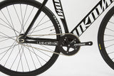 Unknown Bikes Fixed Gear Singularity Fixie Track Bike Black Crankset