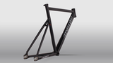 Geometry Unknown Bikes Fixie PS1 Frame Black Carbon Fork Seatpost
