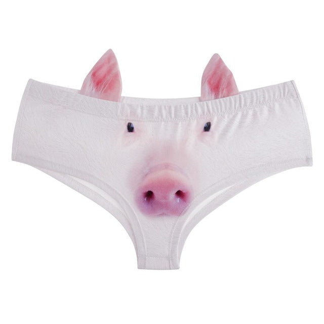 Ear Underwear Kawaii Pig 3D Printed Panties
