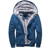 ACTIONCLUB Winter Thicken Hoodie Men Zipper Coat