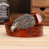 Eagle Head Men Belt with Genuine Leather