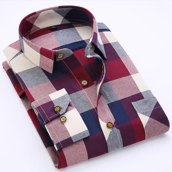Men's Long Sleeve Contrast Dress Shirt
