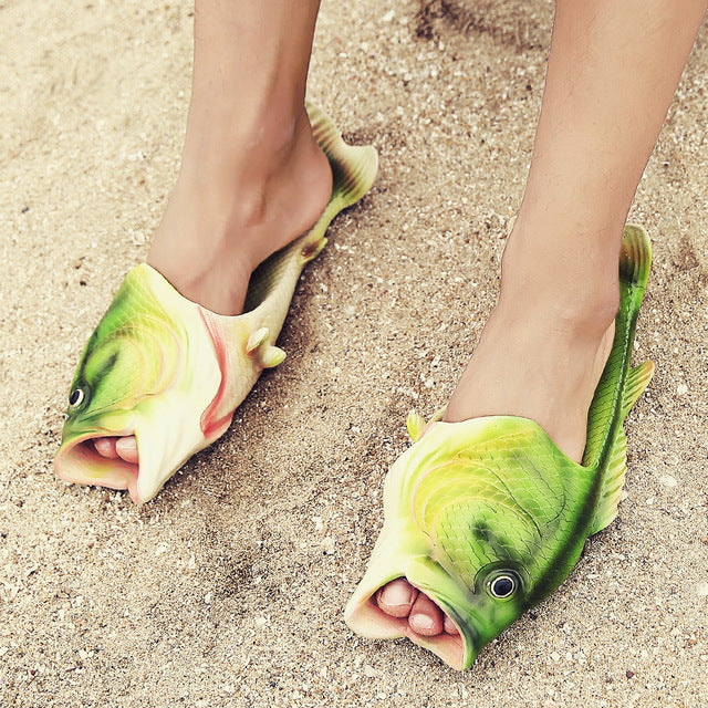 Lightweight Beach Fish Slippers
