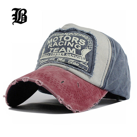 Cotton Baseball & Racing Cap in  Multi-color