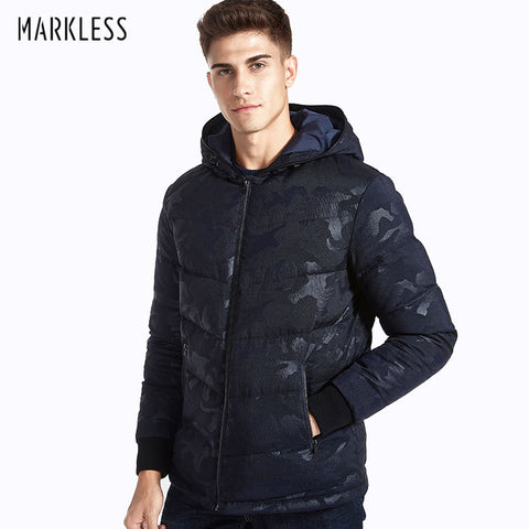 Markless Camouflage Men Winter Clothing Casual 90% White Duck Down Jackets