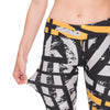 Orange Asphalt Printed Fitness Legging