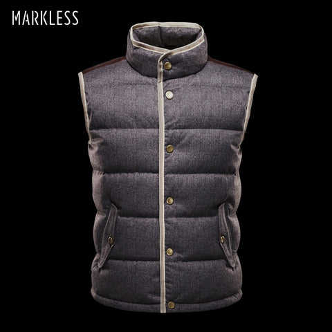 Markeless 2018 Men High-end seamless Down Vest Autumn And Winter Coats