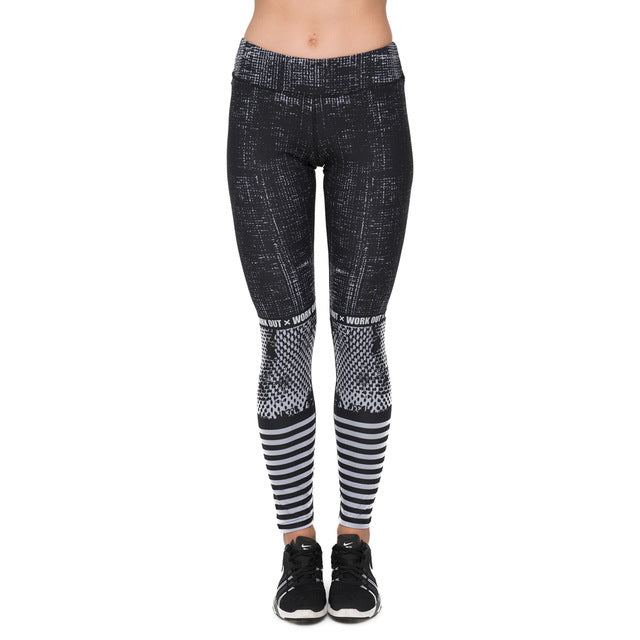 Raster Printed Fitness Legging