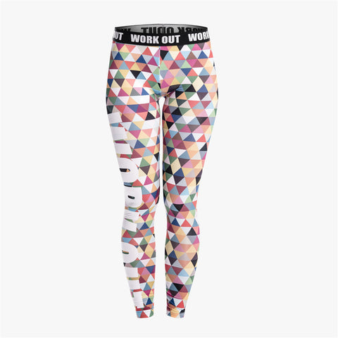 Multi Color Triangles Fitness Legging